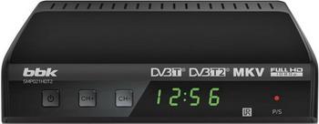 Цифровой телевизионный ресивер BBK SMP 021 HDT2 темно-серый bbk smp 132 hdt2 dark grey