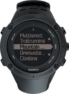 Часы SUUNTO AMBIT3 PEAK BLACK (HR)  умные часы suunto ambit3 sport black ss020681000