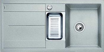 Кухонная мойка BLANCO METRA 6S SILGRANIT жемчужный с клапаном-автоматом мойка кухонная blanco metra 6 s compact silgranit puradur жемчужный с клапаном автоматом 520576