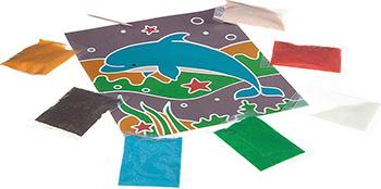 Набор для декорирования Bondibon Фреска (морские обитатели) ВВ1966 деревянные игрушки bondibon игровой набор пазлы морские обитатели