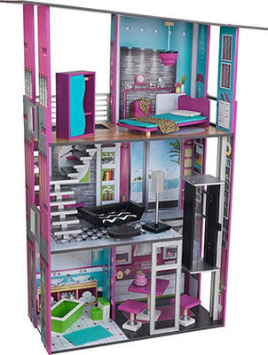 Кукольный дом для Барби KidKraft Гламурный 65192_KE kidkraft кукольный стульчик для кормления куклы kidkraft
