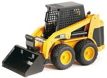 Мини-погрузчик колёсный Bruder CAT с ковшом 02-431