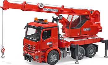 Автокран Bruder MB Arocs с модулем со световыми и звуковыми эффектами  красный 03-670 кепка кораллового цвета catimini ут 00011789