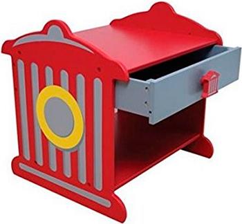 Прикроватный столик KidKraft ''Пожарная станция'' 76024_KE столы и стулья kidkraft прикроватный столик пожарная станция
