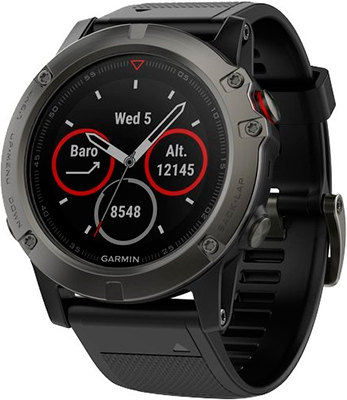 Спортивные часы Garmin fenix 5x Sapphire Slate Gray (серый) цена