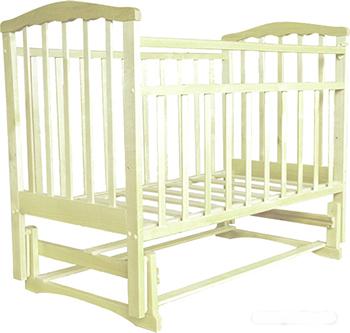 Детская кроватка Агат Золушка-3 классическая  маятник поперечный  Слоновая кость обычная кроватка агат 52103 золушка 3 вишня