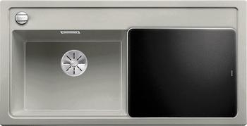 Кухонная мойка BLANCO ZENAR XL 6S (чаша слева) SILGRANIT жемчужный с кл.-авт. InFino 523977 мойка zenar xl 6 s anthracite right 519271 blanco