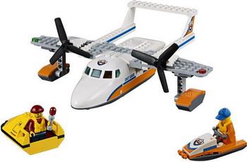 Конструктор Lego CITY Спасательный самолет береговой охраны 60164 конструктор lele city сверхмощный спасательный 448 дет 02068