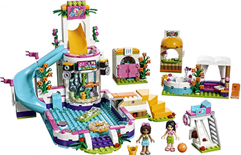Конструктор Lego Friends Летний бассейн 41313-L