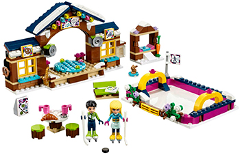 Конструктор Lego Конструктор LEGO FRIENDS Горнолыжный курорт: каток 41322 конструктор friends lego lego mp002xg00d75