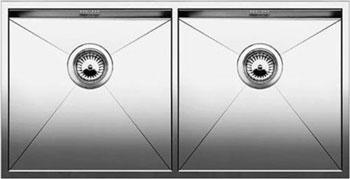 Кухонная мойка BLANCO ZEROX 400/400-U нерж. сталь зеркальная полировка без клапана авт 521620 blanco zerox 450 u нерж сталь зеркальная