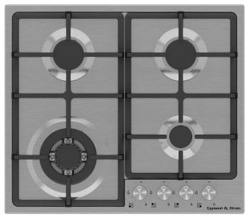 Встраиваемая газовая варочная панель Zigmund amp Shtain GN 88.61 S кухонная мойка zigmund amp shtain kaskade 800 швейцарский шоколад