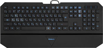 лучшая цена Клавиатура Defender Oscar SM 660 L RU black 45662