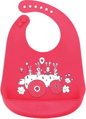 Нагрудник Happy Baby BIB POCKET 16006 Red нагрудник силиконовый happy baby bib pocket 16006 lime