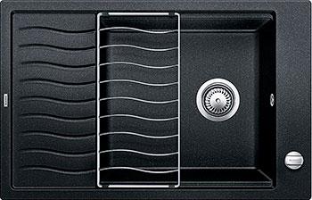 Кухонная мойка BLANCO ELON XL 6S SILGRANIT антрацит с клапаном-автоматом мойка кухонная blanco elon xl 6 s шампань с клапаном автоматом 518741