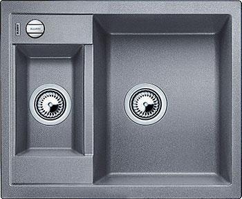 Кухонная мойка BLANCO METRA 6 SILGRANIT алюметаллик с клапаном-автоматом blanco metra 6 silgranit серый беж с клапаном автоматом