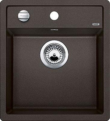 Кухонная мойка BLANCO DALAGO 45 SILGRANIT кофе с клапаном-автоматом  кухонная мойка blanco dalago 45 grey beige