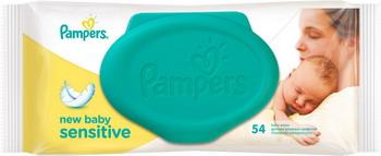 Салфетки детские Pampers New Baby Sensitive 54 шт pampers untuk kucing