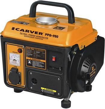 Электрический генератор и электростанция CARVER PPG-950 01.020.00001 генератор бензиновый carver ppg 3900а