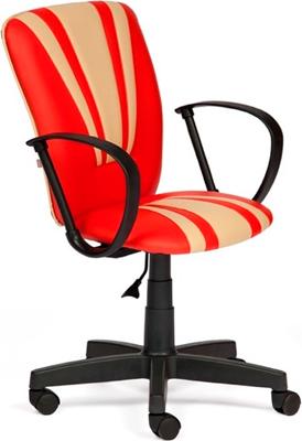 Кресло Tetchair Spectrum (кож/зам красный бежевый PU 36-161/PU 36-34) кресло tetchair runner кож зам ткань черный жёлтый 36 6 tw27 tw 12