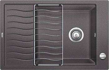 Кухонная мойка BLANCO ELON XL 6 S-F темная скала 524855 мойка кухонная blanco elon xl 6 s антрацит 518735
