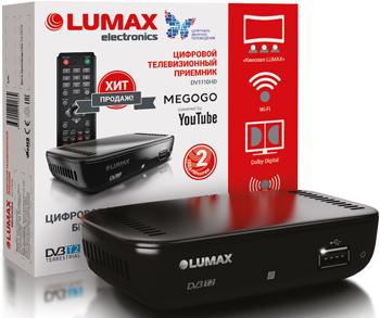 Цифровой телевизионный ресивер Lumax DV 1110 HD цифровой телевизионный ресивер lumax dv 3209 hd