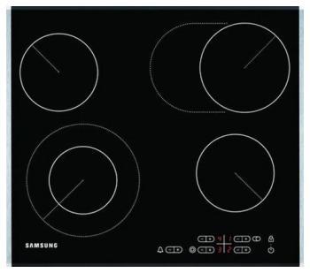 Встраиваемая электрическая варочная панель Samsung C 61 R1CDMST/BWT