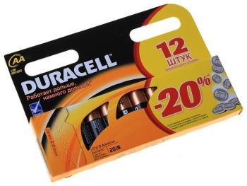 Батарейка Duracell LR6-12 BL BASIC (12/144/24480) батарейки duracell basic lr6 4bl aa 4 шт