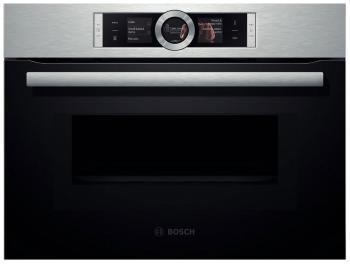 Встраиваемый электрический духовой шкаф Bosch CMG 636 BS1 встраиваемый электрический духовой шкаф bosch hbg 636 lb1