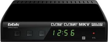 Цифровой телевизионный ресивер BBK SMP 021 HDT2 чёрный bbk smp 132 hdt2 dark grey