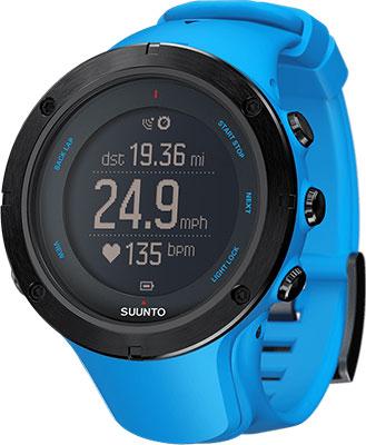 Часы SUUNTO AMBIT3 PEAK SAPPHIRE BLUE (HR) спортивные часы suunto ambit3 sport white hr ss020680000