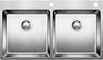 Кухонная мойка BLANCO ANDANO 400/400-IF-A нерж. сталь зеркальная полировка с клапаном-автоматом кухонная мойка blanco andano xl 6 s if compact