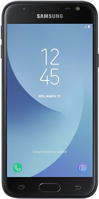 Мобильный телефон Samsung Galaxy J3 (2017) черный смартфоны samsung смартфон samsung galaxy j3 8 гб черный