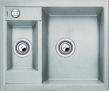 Кухонная мойка BLANCO METRA 6 SILGRANIT жемчужный с клапаном-автоматом мойка кухонная blanco metra 6 s compact silgranit puradur жемчужный с клапаном автоматом 520576