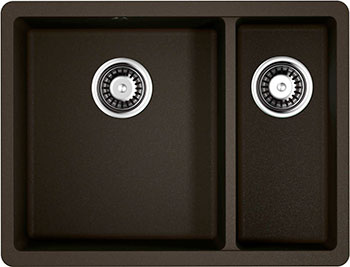 Кухонная мойка OMOIKIRI Kata 55-2-U-DC Artgranit/темный шоколад (4993388)