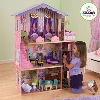 Кукольный дом для Барби KidKraft Особняк мечты 65082_KE кукольный домик kidkraft кукольный домик для барби амелия с мебелью
