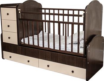 Детская кроватка Агат ПАПА КАРЛО-1 венге/бежевый