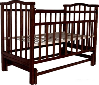 Детская кроватка Агат Золушка-3 классическая  маятник поперечный  Шоколад обычная кроватка агат 52103 золушка 3 вишня