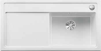Кухонная мойка BLANCO ZENAR XL 6S (чаша справа) SILGRANIT белый с кл.-авт. InFino 523948 мойка кухонная blanco zenar 45s чаша справа белый с клапаном автоматом 519255