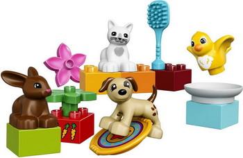 Конструктор Lego DUPLO TOWN ДОМАШНИЕ ЖИВОТНЫЕ 10838 lego lego duplo 10831 моя веселая гусеница