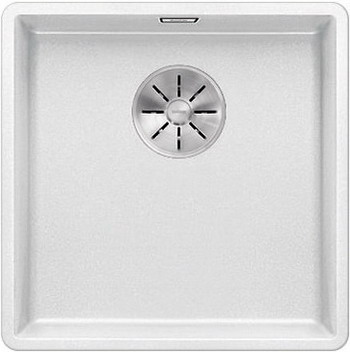 Кухонная мойка BLANCO SUBLINE 400-F белый с отв.арм. InFino 523497 мойка subline 400 f jasmine 519800 blanco
