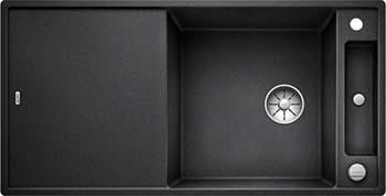 Кухонная мойка BLANCO AXIA III XL 6 S-F InFino Silgranit антрацит ( доска стекло) 523526 кухонная мойка blanco axia iii xl 6 s f infino silgranit белый доска стекло 523529