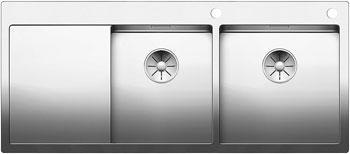 Кухонная мойка BLANCO CLARON 8S-IF/А (чаша справа) нерж. сталь зеркальная полировка 521651 blanco elipso s ii нерж сталь зеркальная