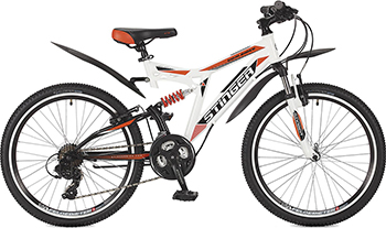 Велосипед Stinger 24'' Highlander 200 V 16 5'' белый 24 SFV.HILAND2.16 WH7 stinger stinger велосипед 24 caiman 14 зеленый