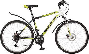 Велосипед Stinger 26'' Caiman D 18'' зеленый 26 SHD.CAIMD.18 GN7 велосипед stinger bmx graffiti цвет зеленый 20