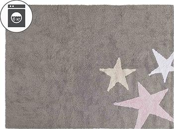 Ковер Lorena Canals Три звезды Three Stars (серые и розовые) 120*160 C-TE-GR