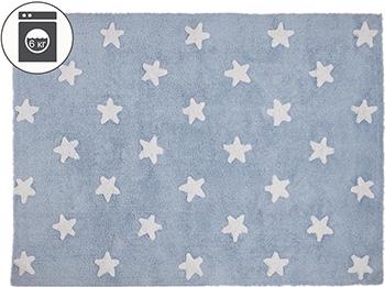 Ковер Lorena Canals Звезды Stars (голубой с белым) 120*160 C-A-SW