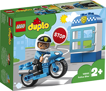 Конструктор Lego Полицейский мотоцикл 10900 DUPLO Town цена