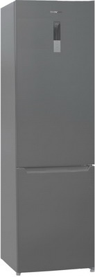 Двухкамерный холодильник Shivaki BMR-2017 DNFX холодильник shivaki bmr 2013dnfw двухкамерный белый