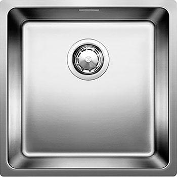 Кухонная мойка BLANCO ANDANO 400-U нерж.сталь полированная с клапаном-автоматом  blanco andano 340 180 u с клапаном автоматом левая 518322